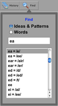 Ultimate Phonics Find feature