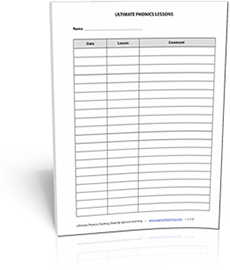 Ultimate Phonics tracking sheet